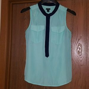 J Crew green and blue sleeveless blouse(3 FOR $20